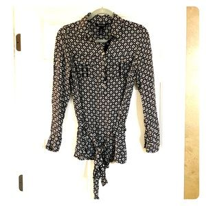 WHITE HOUSE BLACK MARKET SILK BLOUSE